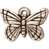 Charm Monarch B-fly Antique Silver